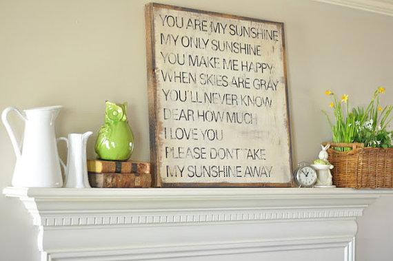 You Are My Sunshine Wall Decor 8x10 you are my sunshine printgusandlula on etsy