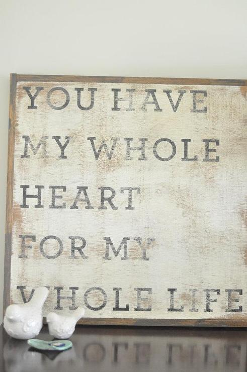 Whole Heart Sign by BetweenYouAndMeSigns on Etsy