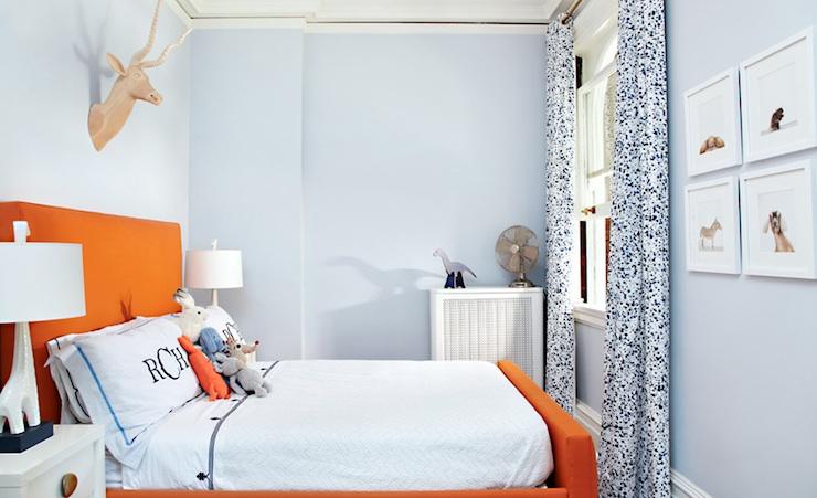 Blue and orange boy 39 s room contemporary boy 39 s room for Orange and blue room decor