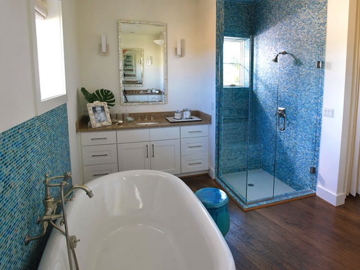 Mosaic Blue Glass Tile