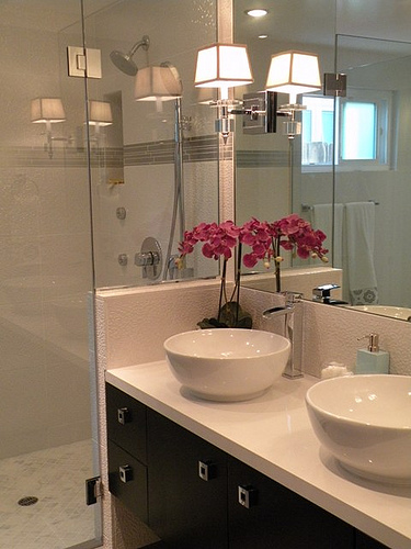 Floating Double Vanity Contemporary Bathroom Hgtv