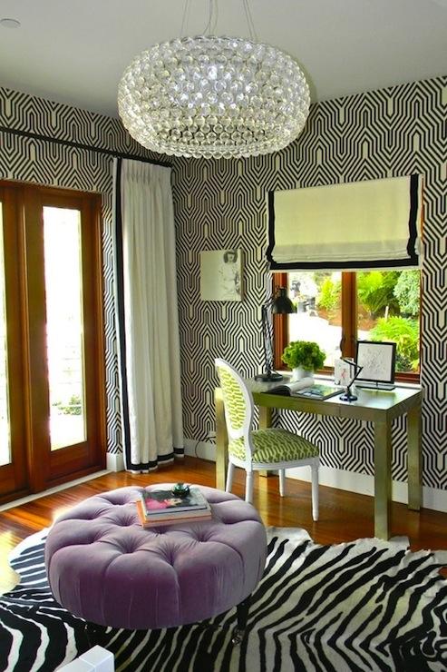 Minaret Wallpaper, Contemporary, girl's room, Kriste Michelini Interiors