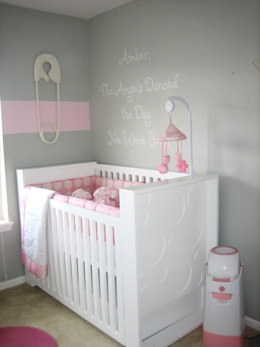 Pink And Gray Nursery Contemporary Nursery Hgtv