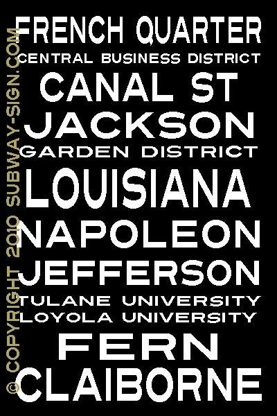 New Orleans Wall Decor art/wall decor - london subway sign