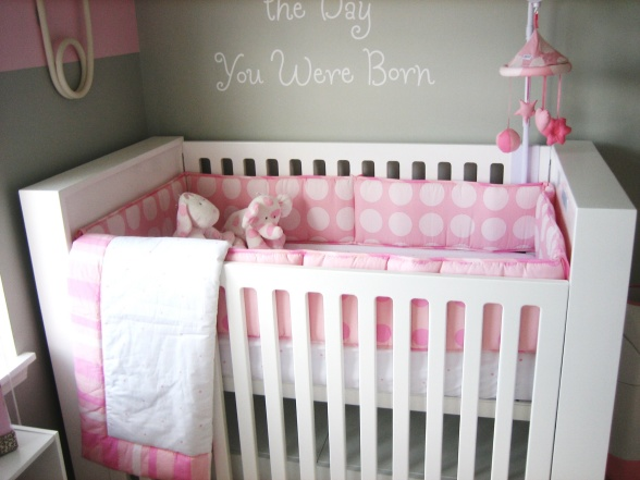 Gray And Pink Nursery Design Contemporary Nursery Hgtv
