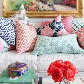 Caitlin Wilson Textiles Navy Fleur Chinoise Pillow Design Ideas