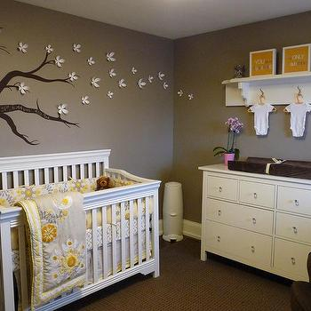 Yellow and Gray Nursery, Contemporary, nursery, Benjamin Moore Ashley Gray HC-87, Kimberly Murdoch