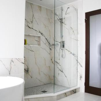 Faux Marble Shower Tiles Design Ideas - Fake marble shower walls