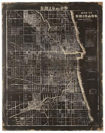 Map Of Chicago Wall Plaque   Unframed Art   Wall Decor   Home Decor    HomeDecorators.com
