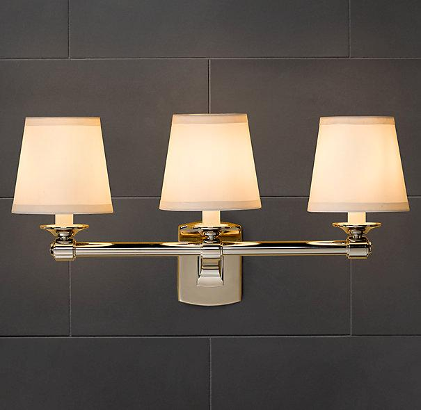 Campaign Triple Sconce Bath Sconces Restoration Hardware