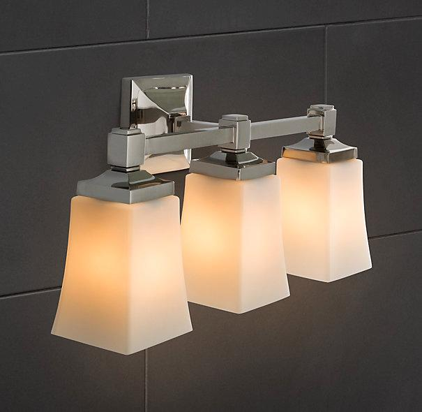 Dillon triple sconce bath sconces restoration hardware Restoration bathroom lighting
