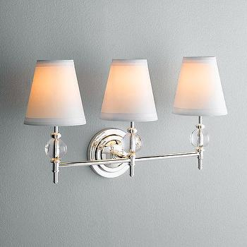 Wilshire Triple Sconce, Bath Sconces, Restoration Hardware