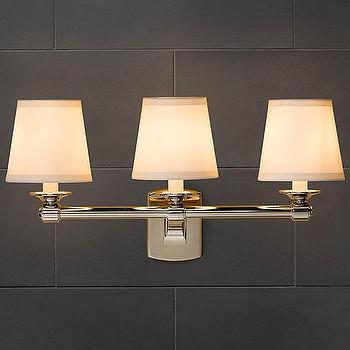 pullman bath light 3 light 2 finishes shades of light. Black Bedroom Furniture Sets. Home Design Ideas