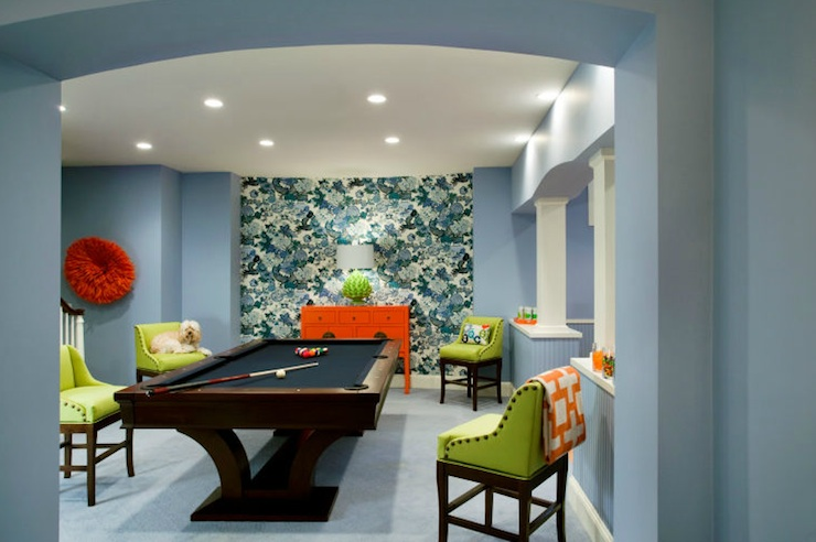 Basement Game Room Contemporary Basement Liz Caan