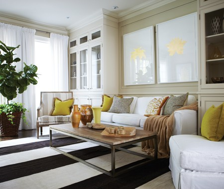 Yellow Accents Contemporary Living Room House Amp Home