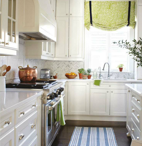 Green Kitchen Backsplash: Dash & Albert Birmingham Denim Woven Cotton Rug