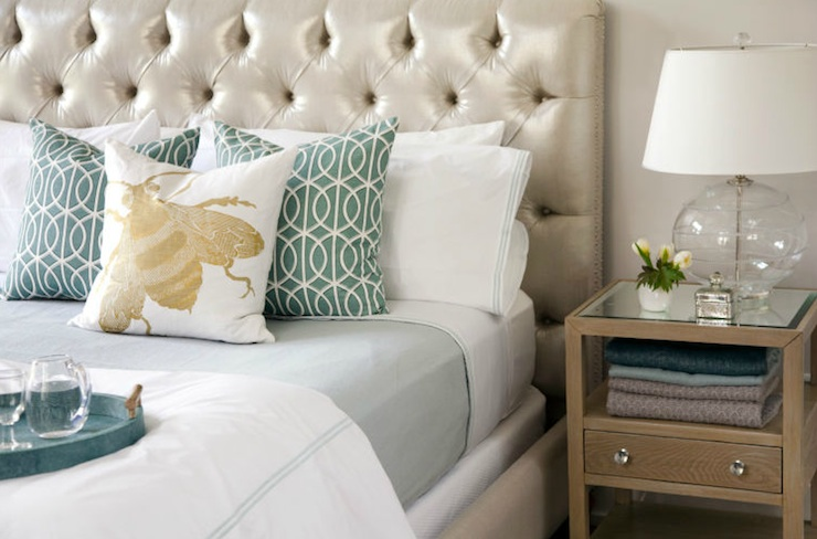 Tufted Headboard Contemporary Bedroom Liz Caan Interiors