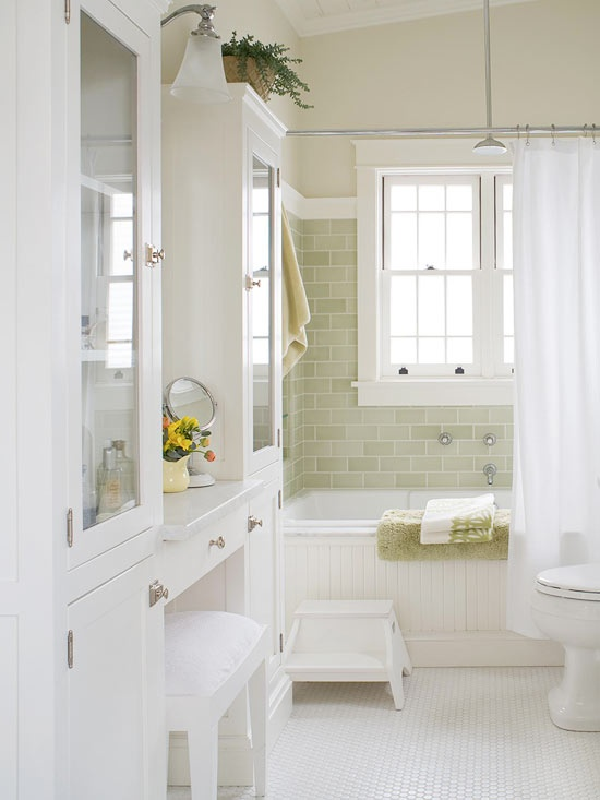 Beadboard Drop In Tub Cottage Bathroom Traditional Home