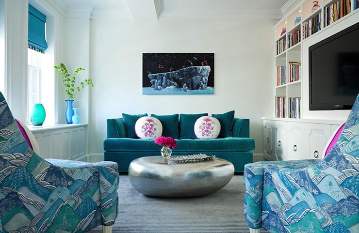 Turquoise Blue Sofa Design Ideas