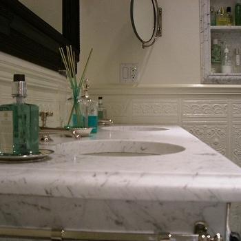Marble Top Bathroom Vanity, Transitional, bathroom, Abbott Moon