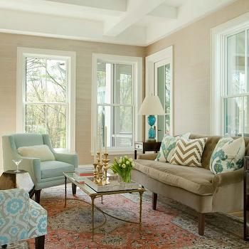 Elegant Brown And Blue Living Room Part 27
