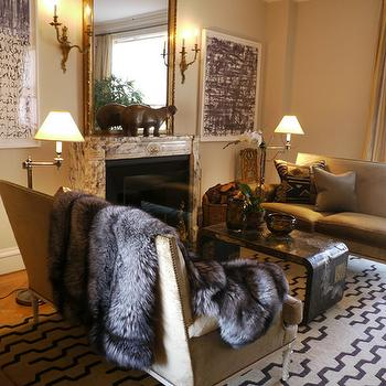 Face to Face Sofas, Eclectic, living room, New York Social Diary
