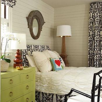 Green Nightstand, Contemporary, bedroom, Liz Caan Interiors