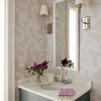 lilac and gray bathroom