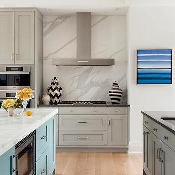Gray Kitchen Cabinets, Contemporary, kitchen, Liz Caan Interiors