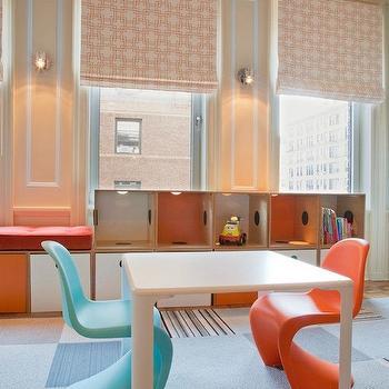 Tangerine Panton Chair, Contemporary, boy's room, Lily Z Design