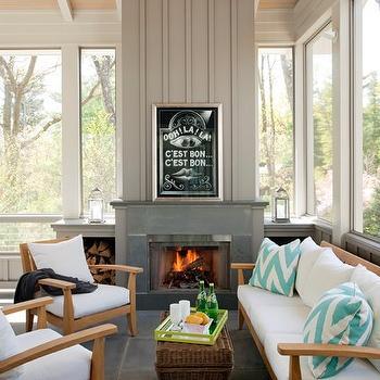 Sunroom Design, Modern, living room, Liz Caan Interiors