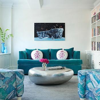 Captivating Peacock Blue Sofa