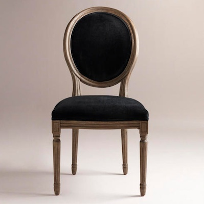 Restoration hardware vintage french round side chair look for Dining chairs for less