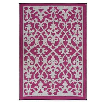 Cream and Pink Venice Rug by Fab Habitat, Spark Living, online boutique for unique home decor, gifts and accessories