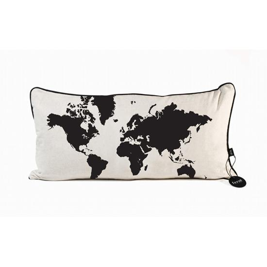 World map cushion by ferm living spark living online boutique world map cushion by ferm living spark living online boutique for unique home decor gifts and accessories gumiabroncs Images