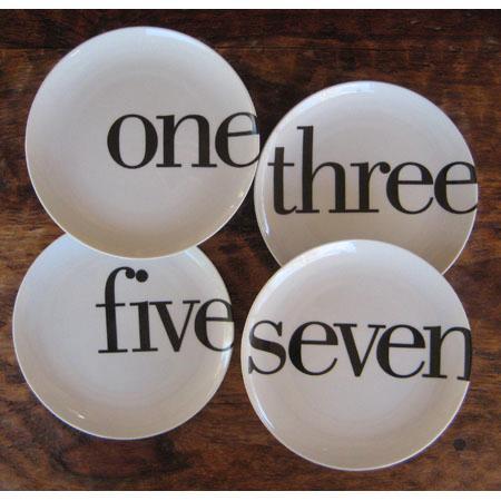 Odd Number Dinner Plates Set by Christopher Jagmin- Spark Living ...