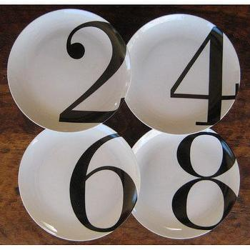 Even Number Dinner Plates Set by Christopher Jagmin, Spark Living, online boutique for unique home decor, gifts and accessories
