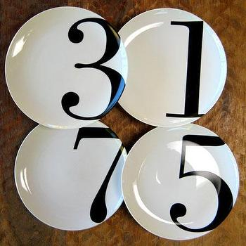 Odd Number Dinner Plates Set by Christopher Jagmin- Spark Living, online boutique for unique home decor, gifts and accessories