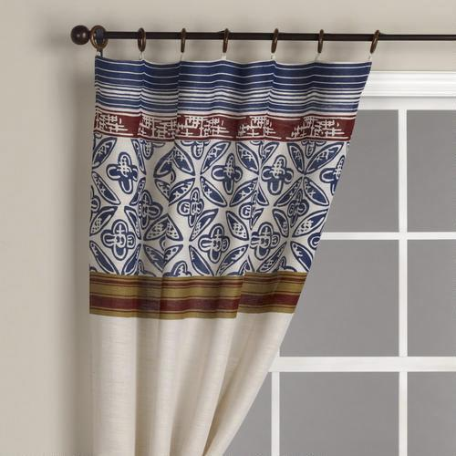 Pagoda Stripes Jute Curtain Panel World Market