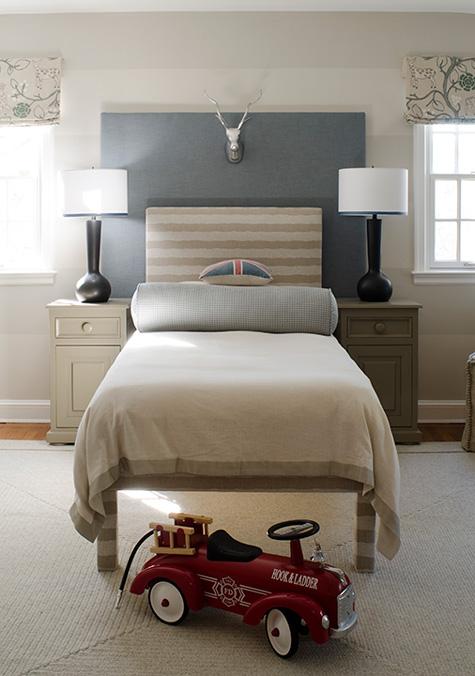 Gray Nightstand Contemporary Boy S Room Finnian S