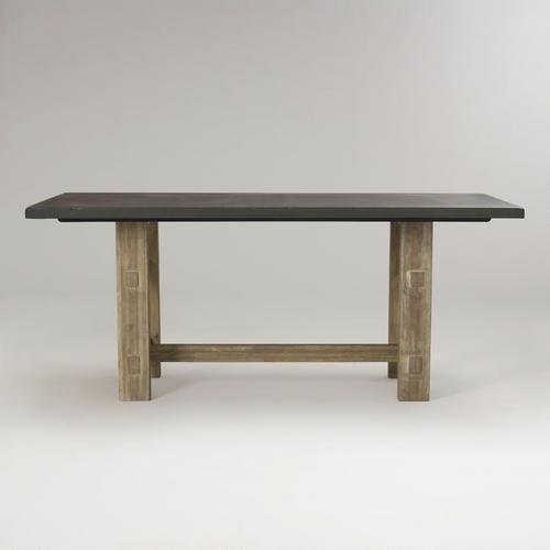 Brooklyn Black Top Wood Dining Table Mesmerizing Dining Room Brooklyn
