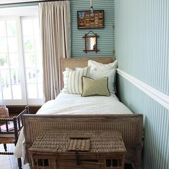 Blue Striped Boy's Room, Cottage, bedroom, Tammy Connor Interior Design