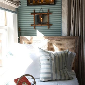 Reclaimed Wood Cane Bed, Cottage, boy's room, Tammy Connor Interior Design