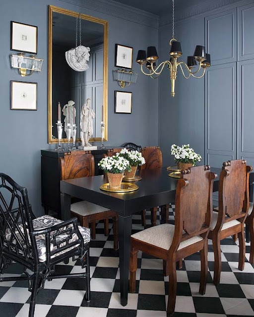 Outstanding Black And White Checkered Floor Eclectic Dining Room Ibusinesslaw Wood Chair Design Ideas Ibusinesslaworg