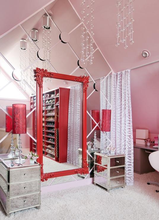 Floor to Ceiling Mirror - Contemporary - closet - Sherwin Williams ...