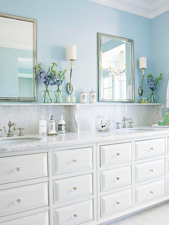 Charmant Blue Bathroom Design