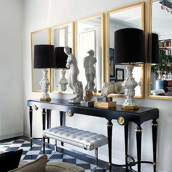 Gold Leaf Living Room Floor Lamps Design Ideas