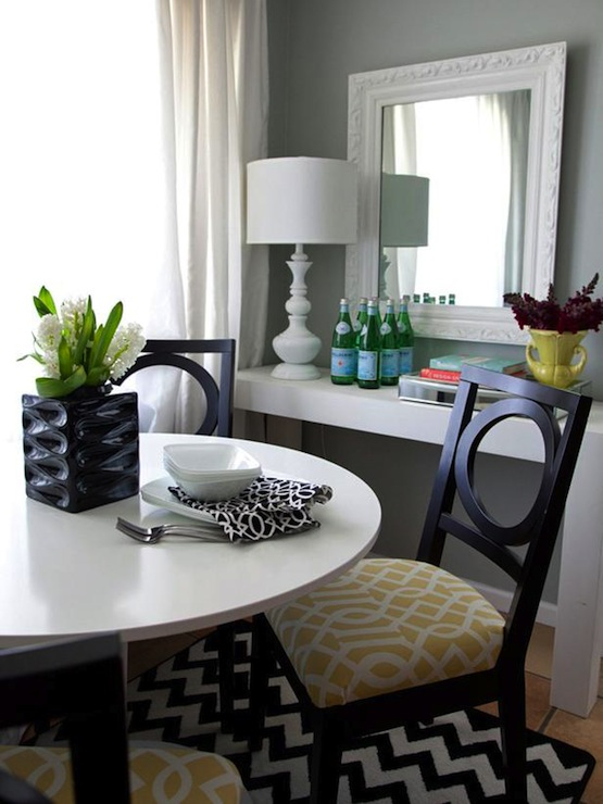 Trellis chairs contemporary dining room hgtv for Docksta dining table