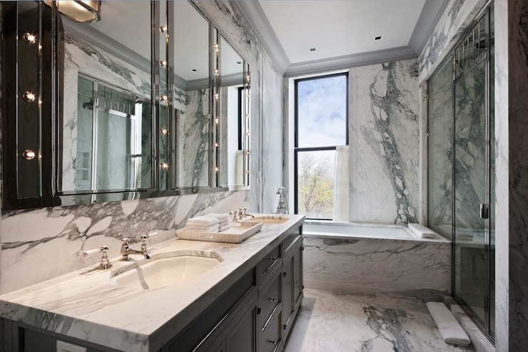 Marble Bathroom Ideas To Create A Luxurious Scheme: Gray Bathroom Vanity