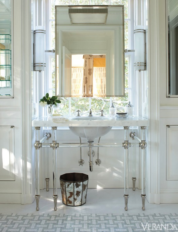 lucite bathroom vanity design ideas